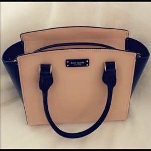 Kate Spade Pnk/black leather Satchel Crossbody